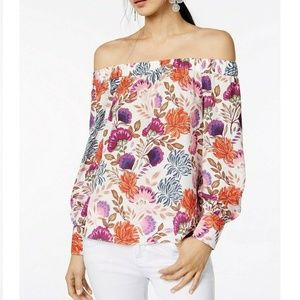 INC International Concepts LP Floral Top 6AE31